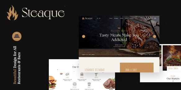 Steaque   Restaurant and Cocktail Bar WordPress Theme