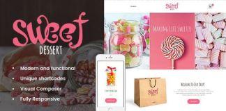 Sweet Dessert - Sweet Shop & Cafe WordPress Theme