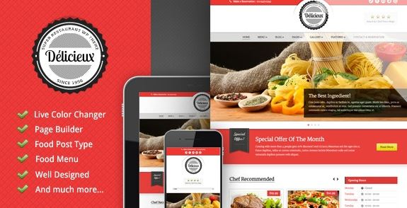 Delicieux v1.3.1 – Restaurant WordPress Theme