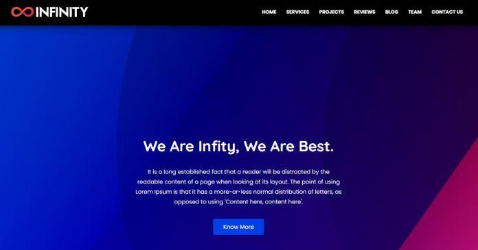 Infinity Portfolio Blogger Template