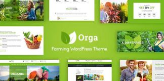 Orga - Organic Farm & Agriculture WordPress Theme