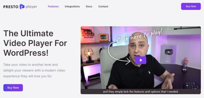 Presto Player - The Ultimate Video Player WordPress Plugin