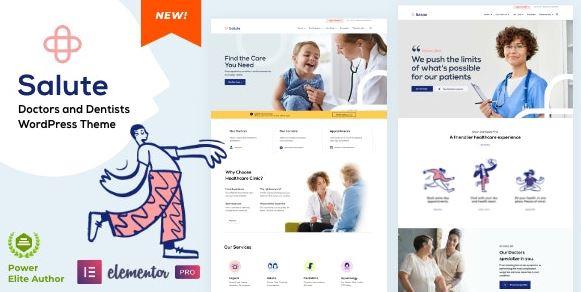 Salute Medical v33 – Elementor WordPress Theme