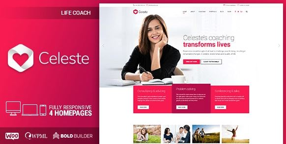 Celeste - Life Coach & Therapist WordPress Theme