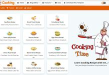 Cooking - Recipe & Food Blogger Templates