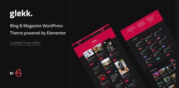 Glekk - Elementor Blog & Magazine WordPress Theme