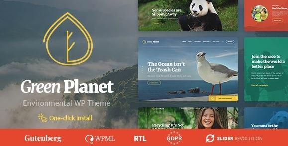 Green Planet - Ecology & Environment WordPress Theme