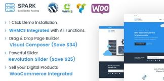 Spark - Responsive WHMCS Hosting WordPress Theme