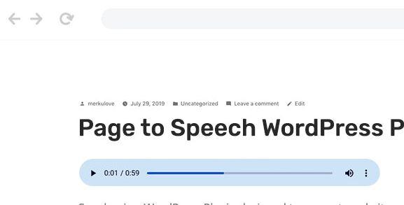 Speaker - Page to Speech Plugin for WordPress