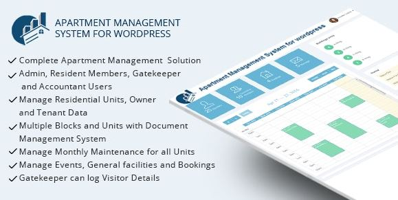 WPAMS v31.0 – Apartment Management System For WordPress