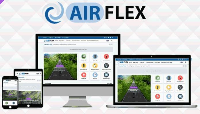 AirFlex - Magazine and News Blogger Template