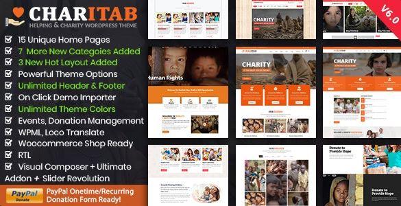 Charity - Nonprofit Charitable WordPress Theme