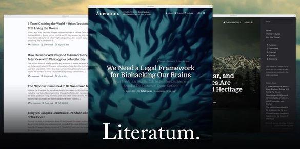 Literatum - Just Write WordPress Theme