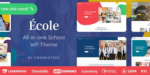 Ecole - Education & School WordPress Theme