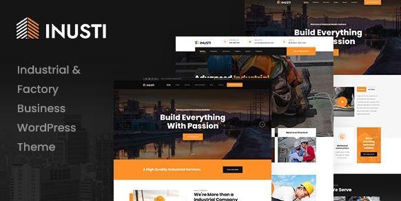 Inusti – Factory & Industrial WordPress Theme