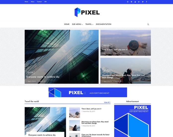 Pixel Blogger Template