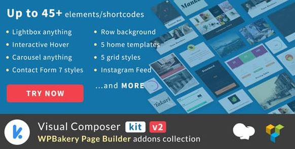 VCKit - WPBakery Page Builder addons collection (formely Visual Composer)
