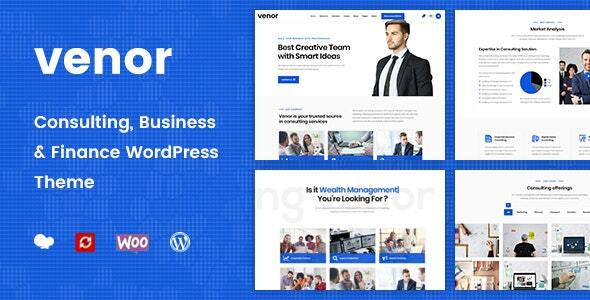 Venor - Business Consulting WordPress Theme Nulled