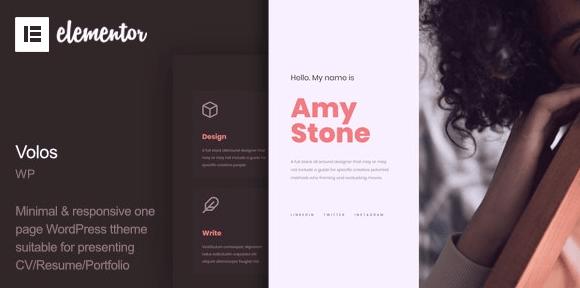 Volos - One Page Resume WordPress Theme