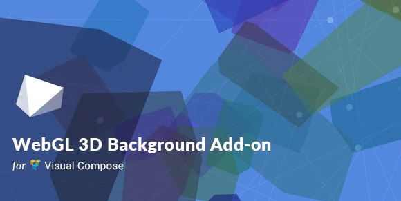 WebGL 3D background for visual composers