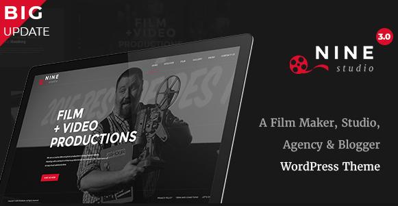 9 Studio - Director Movie Photography and Filmmaker WordPress Theme