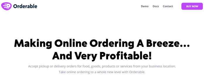 Orderable Pro - Food Ordering System for WordPress