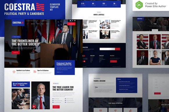 Coestra – Political Party & Candidate Elementor Template Kit