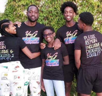 Here For It: Gabrielle Union and Dwyane Wade Launch Line of Equality/Inclusive Tees In Support of Their Gay Son [Photos]
