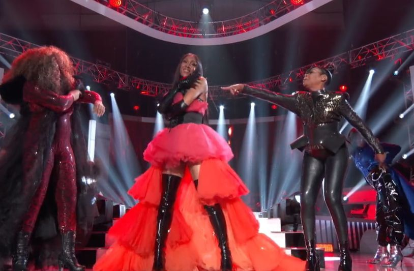 Watch: 'Pose' Star MJ Rodriguez Joins Tisha Campbell & Tichina Arnold For Janet Jackson/Ballroom Inspired Opening of '2019 Soul Train Awards'