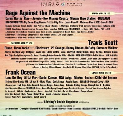Coachella 2020: Frank Ocean, Travis Scott, Rage Against The Machine To Headline+DaBaby, Megan Thee Stallion, Summer Walker & More To Perform
