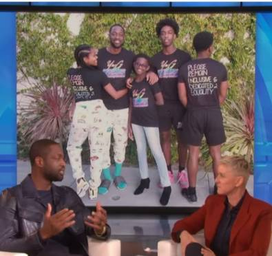 """Watch: Dwyane Wade Visits 'Ellen' To Discuss Supporting His Transgender Child Zaya, Gabrielle Union Consulted with 'Pose' Cast """"We Are Proud Parents of a Child In The LGBTQ+Community.."""""""