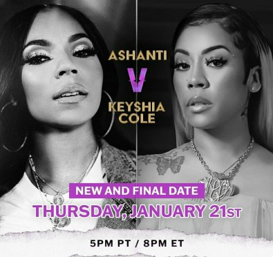 Third Time's The Charm! Ashanti & Keyshia Cole's 'Verzuz' Gets New and FINAL Reschedule Date
