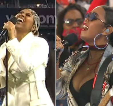 Watch: H.E.R. & Jazmine Sullivan SMASH 'America The Beautiful' and 'National Anthem' Performances at Superbowl LV