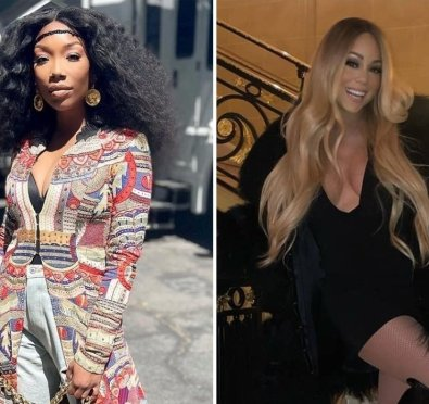Here For It: Mariah Carey Praises Brandy, Teases Collaboration While Playing 'Angel In Disguise'