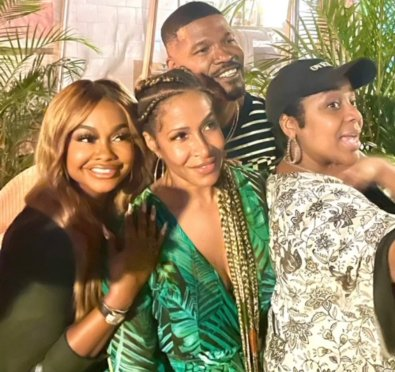 Here For It: Phaedra Parks & Sheree Whitfield Link Up & Party with Jamie Foxx & Friends Ahead of Reported Returns To 'The Real Housewives of Atlanta' [Pics/Video]
