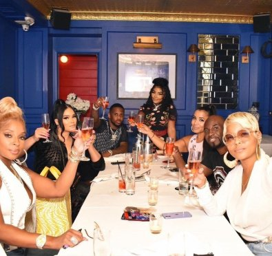 Lil Kim Shares Snaps From Her Belated Birthday Dinner with Besties Mary J. Blige, Fabolous, Misa Hylton, French Montana & More [Pics]
