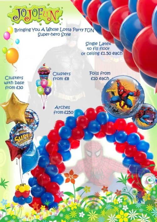 Superhero party theme options