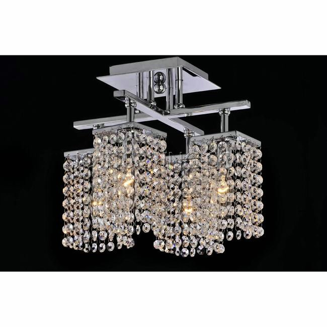4 Light Chrome And Crystal Ceiling Chandelier L825 Mg 385