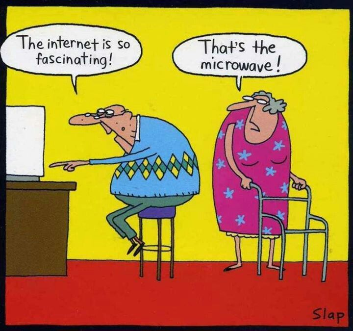 Hilarious And Funny Senior Cartoons