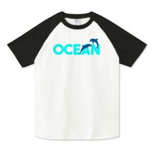 OCEAN ラグランTシャツ