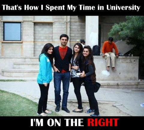 Girls all around me in College - Funny Pics