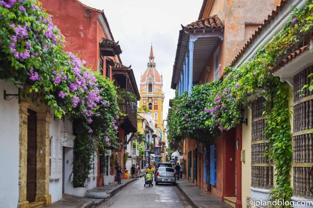 Ruas de Cartagena de las Indias na Colômbia