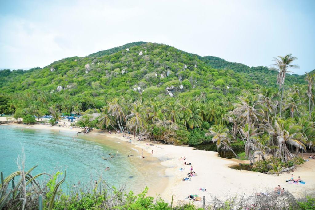 Praia no Parque Tayrona