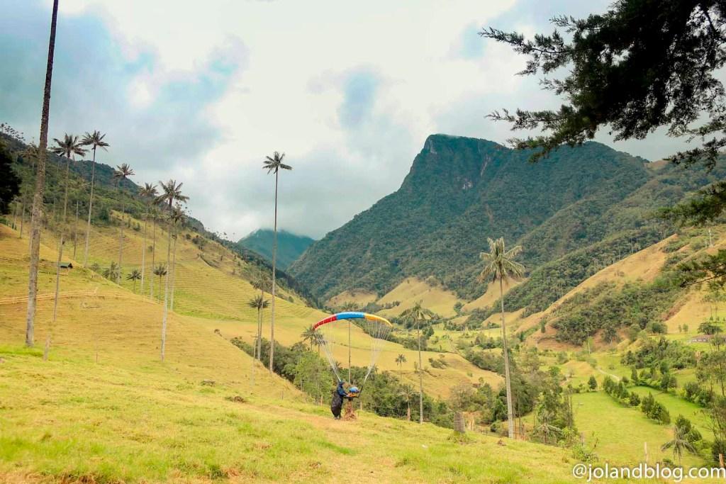 Vista sobre o Vale de Cocora na Colômbia