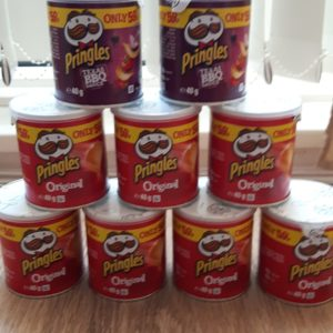 My free pringles for the girls this summer after i did complain to Pringles.