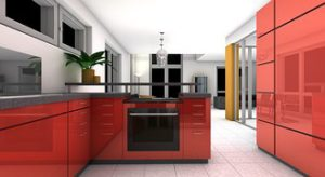 This is one of the kitchen designs I found on the web that inspired me. Crisp and clean look that's also easy to keep clean