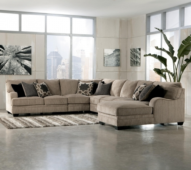 Double Chaise Leather Sectional