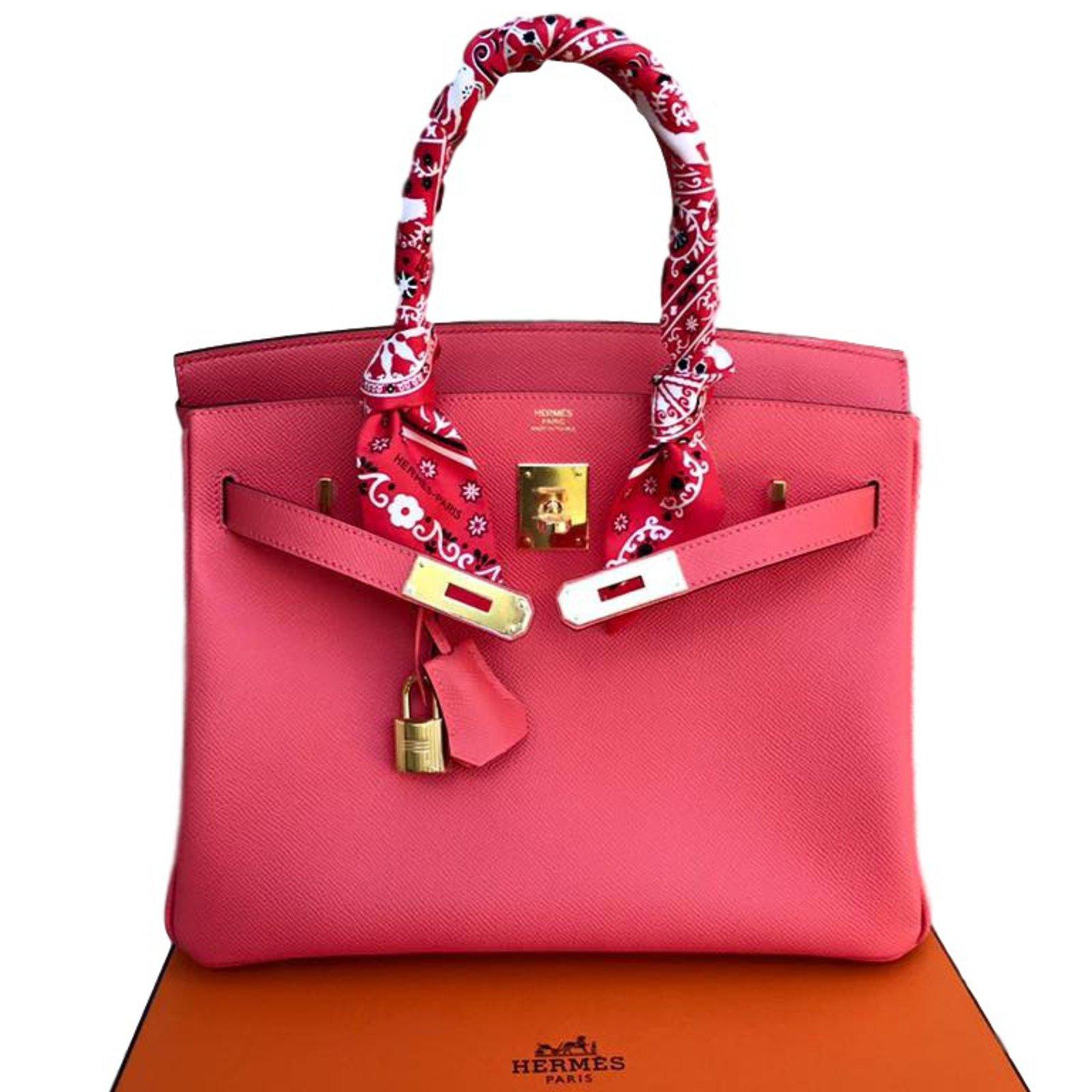 c61bc130c69 Best Hermes Birkin Bag 30 Rose Lipstick Togo Leather Silver ...