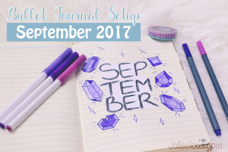 Bullet Journal Setup September 2017