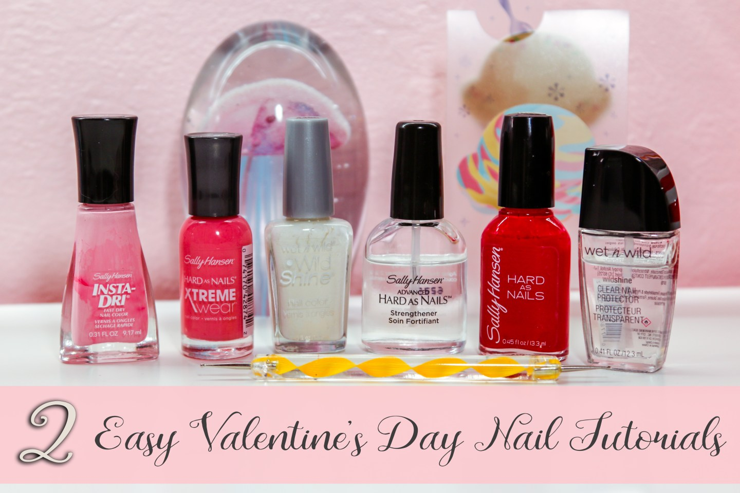 Nail Art Two Easy Valentines Day Nail Tutorials Joliecious
